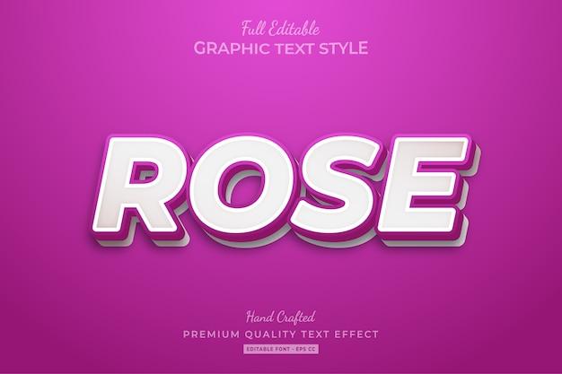 Rose clean editable premium text style effect