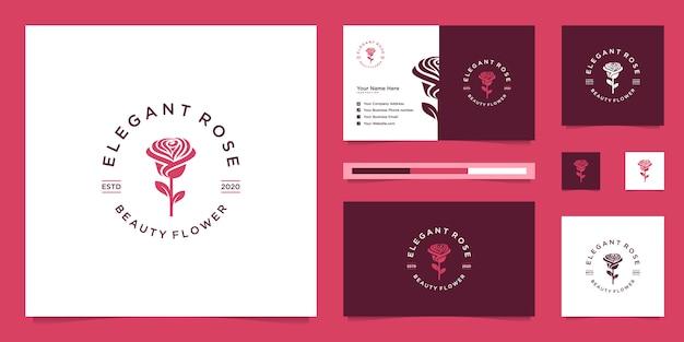 バラのデザインのロゴ。