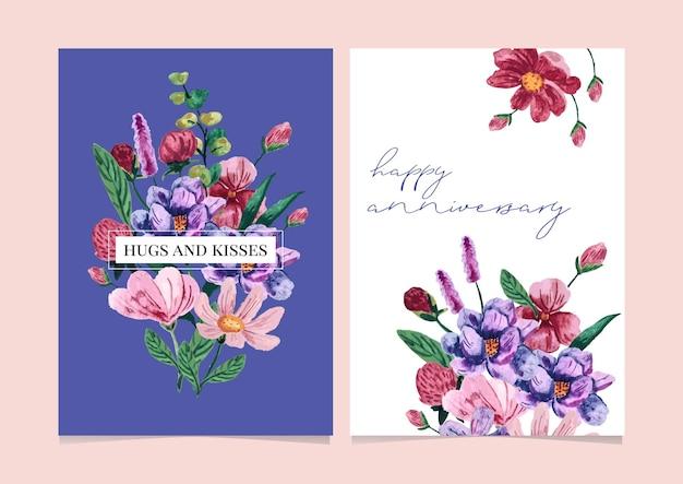 Rose floral arrangement backgrwatercolor floral arrangement background for  card, greeting card, calendar, banner, wallpaper