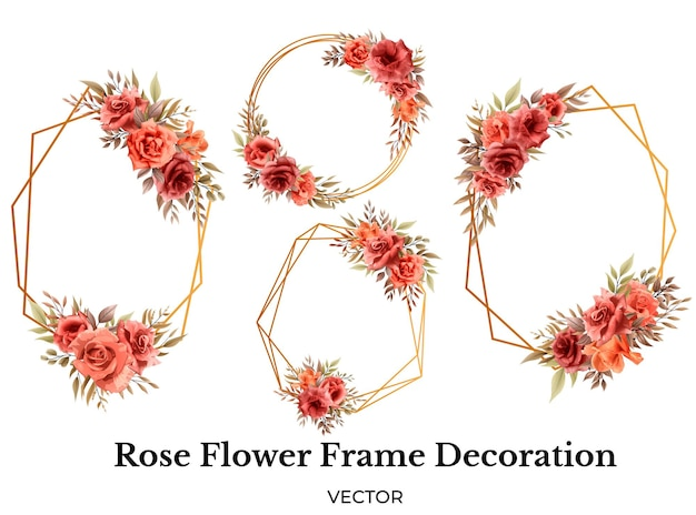 Роза цветочная рамка украшение