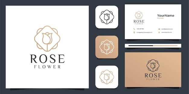 Rose flower logo illustration vector graphic design. good for brand, icon, advertising, decoration, feminine, and business card