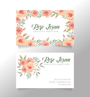 Rose flower name card
