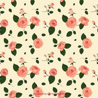 Rose flower pattern Premium Vector