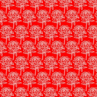Rose flowers elegant seamless pattern design floral pattern for invitations and cards