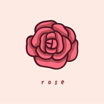 バラの花のシンボルソーシャルメディア投稿ベクトルイラスト