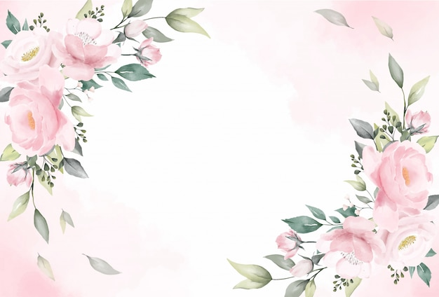 Rose flowers watercolor background vector