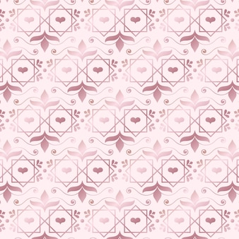 Rose gold art deco modern pattern