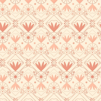 Rose gold art deco pattern style