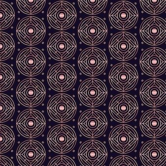 Rose gold art deco pattern theme