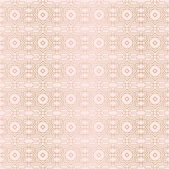 ローズゴールドアールデコパターン
