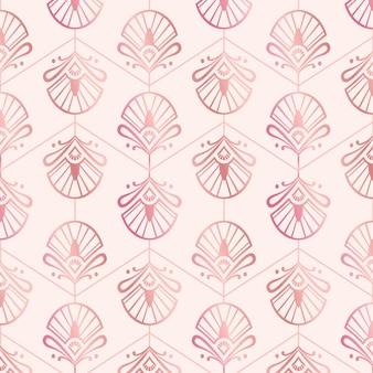 Rose gold art deco pattern