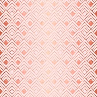 ローズゴールドのアールデコ調のパターン