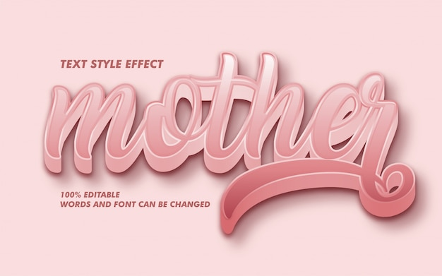 Rose gold curly text style effect