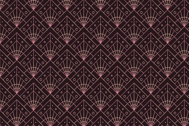 Орнамент из розового золота на темном фоне