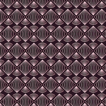 Rose gold decorative pattern