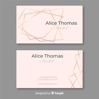 Rose gold frame business card