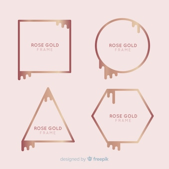 Rose gold frame collection