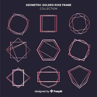 Rose gold frame set