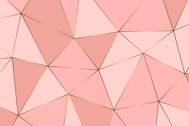 Rose gold geometric abstract pattern.