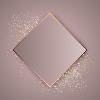 Rose gold glitter background