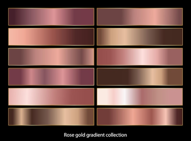 Rose gold gradient backgrounds collection.