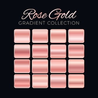 Rose gold gradient blocks collection