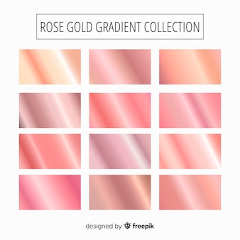 Rose gold gradient collection