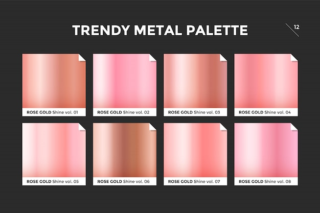 Rose gold gradient template