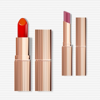 Rose gold lipstick packaging with ultra slim version
