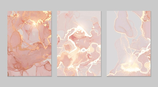 Rose and gold marble abstract textures
