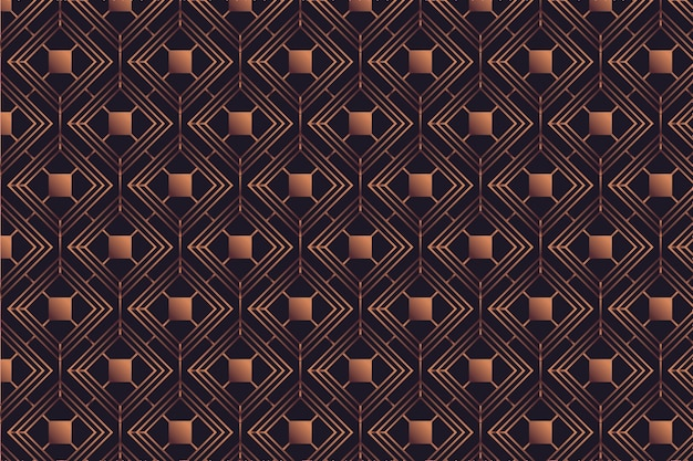 Rose gold pattern on dark background