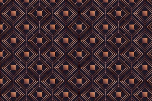 暗い背景にローズゴールドパターン