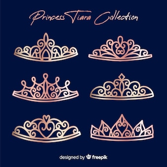 Rose gold princess tiara collection