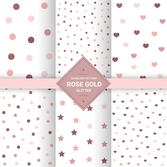Rose gold seamless patterns.