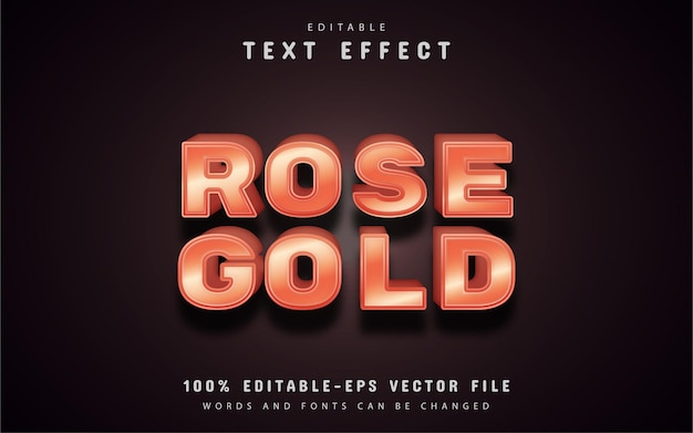 Rose gold text effect