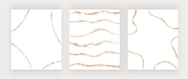 Линии акварельного блеска из розового золота