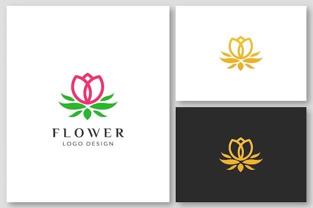 Rose / lotus flower logo design template