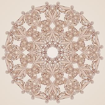 ローズピンクの花飾り