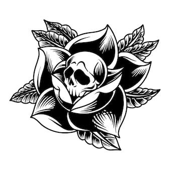 Роза скелет