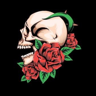 로즈 해골 컨셉 디자인