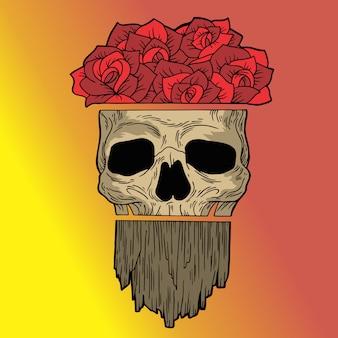 バラの頭蓋骨