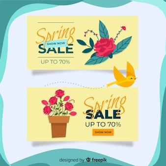 Rose spring sale banner