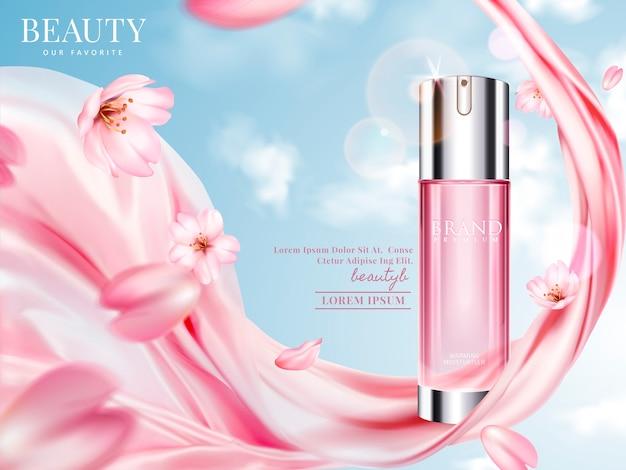 Иллюстрация рекламы розового тонера