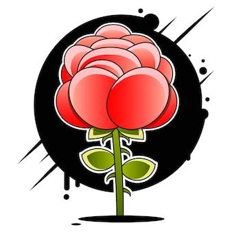 バラのベクトルアイコン印刷、コミック、ファッション、ポップアートのベクトル記号