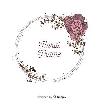Rose wreath spring background