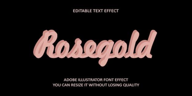 Эффект шрифта текста rosegold