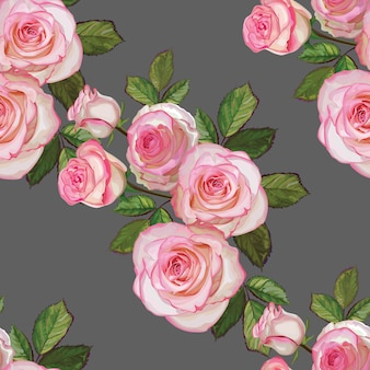 Roses bouquet white and pink color