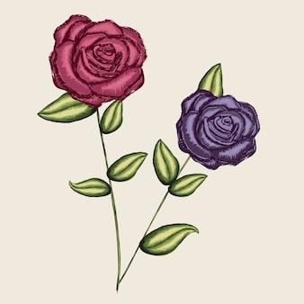 バラのデザイン