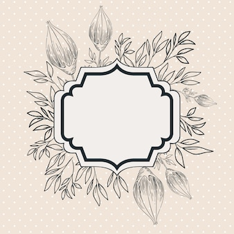 Roses flowers decorative victorian frame