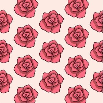 バラのパターンの背景ソーシャルメディア投稿ベクトルイラスト